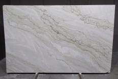 Lieferung polierte Unmaßplatten 2 cm aus Natur Quarzit SUPREME PEARL 1492G. Detail Bild Fotos