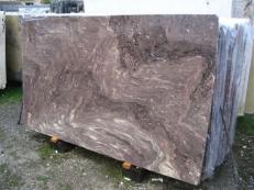 Lieferung polierte Unmaßplatten 2 cm aus Natur Marmor THALIA BROWN EDM25134. Detail Bild Fotos