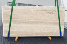 Lieferung geschliffene Unmaßplatten 2 cm aus Natur Travertin TRAVERTINO ALABASTRIN0 1309. Detail Bild Fotos