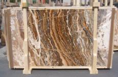 Lieferung polierte Unmaßplatten 2 cm aus Natur Travertin TRAVERTINO ONICIATO E_15188. Detail Bild Fotos