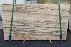 Lieferung geschliffene Unmaßplatten 2 cm aus Natur Travertin TRAVERTINO SILVER ROMANO 1397. Detail Bild Fotos