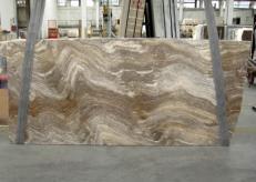 Lieferung polierte Unmaßplatten 2 cm aus Natur Travertin TRAVERTINO SILVER C-945. Detail Bild Fotos
