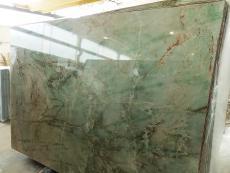 Lieferung polierte Unmaßplatten 2 cm aus Natur Quarzit VERDE JADOR A0114. Detail Bild Fotos