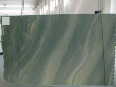 Lieferung polierte Unmaßplatten 0.8 cm aus Natur Marmor VERDE LAGUNA SR_060693. Detail Bild Fotos