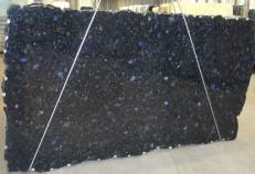 Lieferung polierte Unmaßplatten 2 cm aus Natur Labradorit VOLGA BLUE CVVOBL25. Detail Bild Fotos