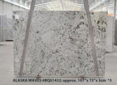 Lieferung polierte Unmaßplatten 3 cm aus Natur Granit WHITE WAVE BQ01432. Detail Bild Fotos