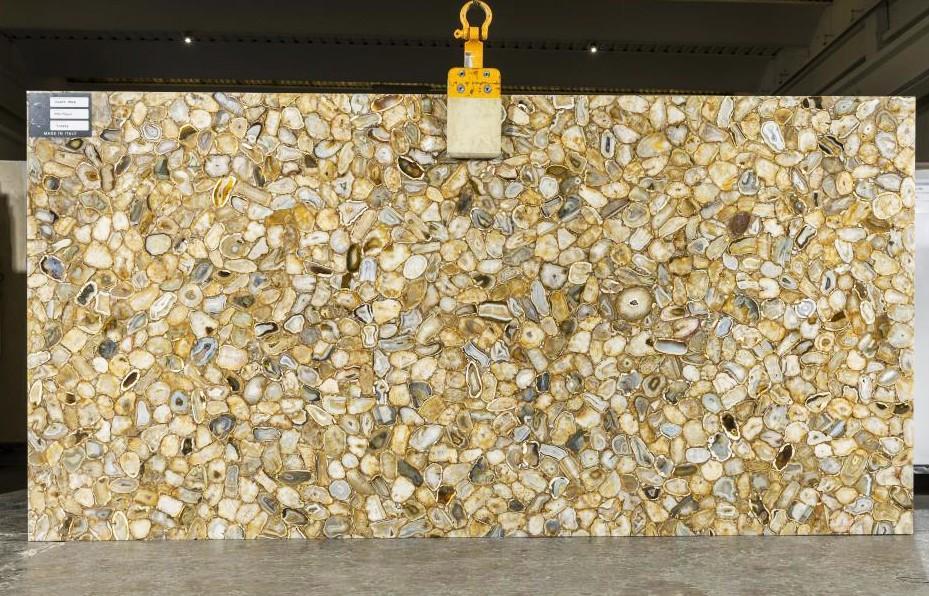 AGATE GOLD polierte Unmaßplatten TL0143 aus Natur Halbedelstein , SL2CM: Lieferung Veneto, Italien
