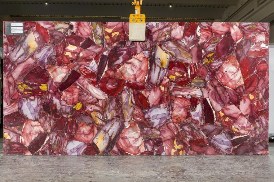 AMETISTA polierte Unmaßplatten TL0036 aus Natur Halbedelstein , SL2CM: Lieferung Veneto, Italien