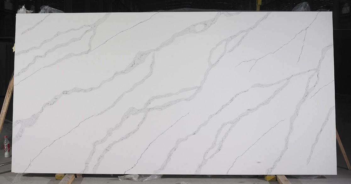 ANDROMEDA polierte Unmaßplatten AB 9310 aus künstlichem Aglo Quarz , SL2CM: Lieferung Hai Phong, Vietnam