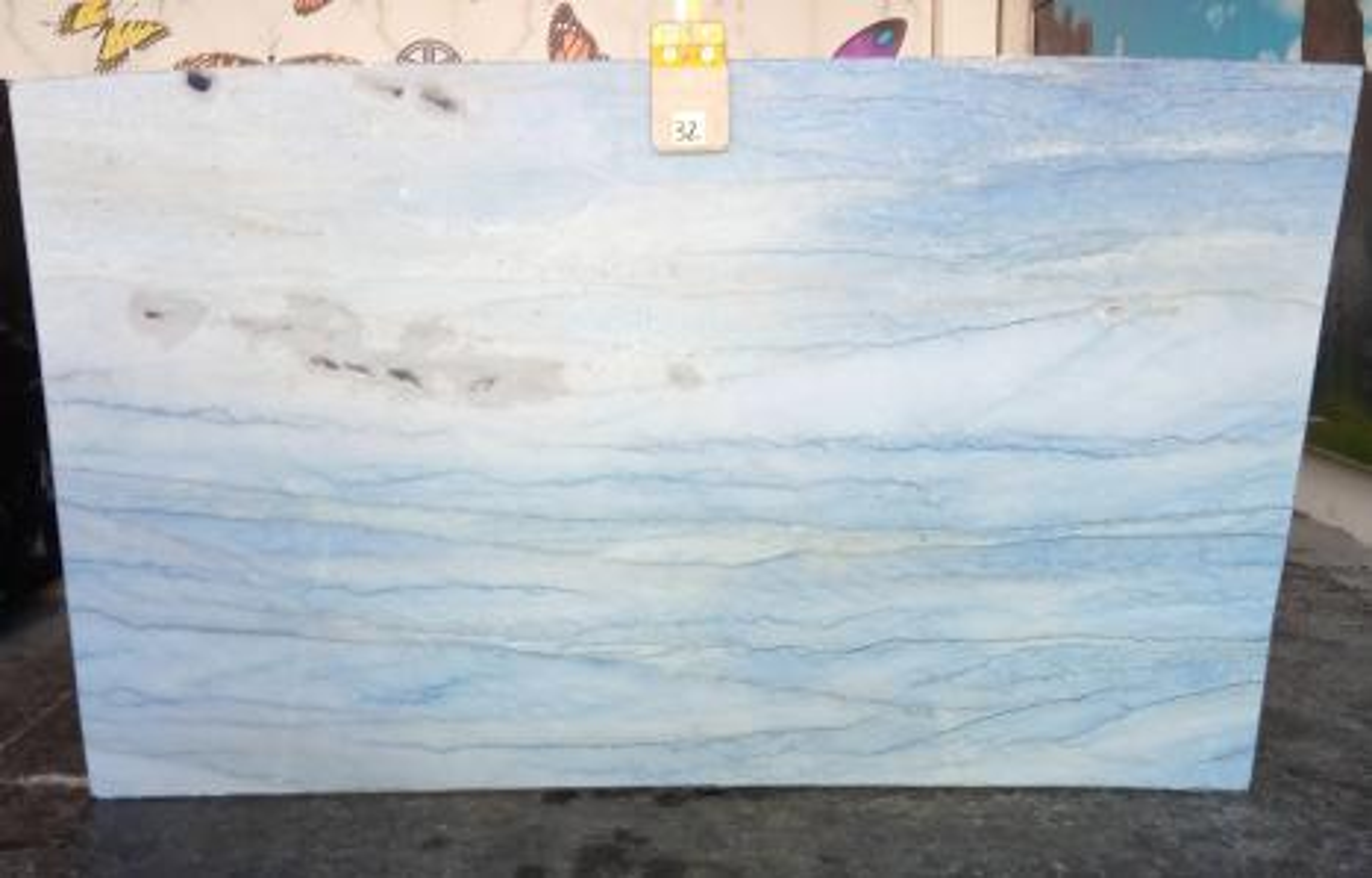 AZUL MAKAUBA polierte Unmaßplatten Z0191 aus Natur Marmor , Slab #32: Lieferung Veneto, Italien