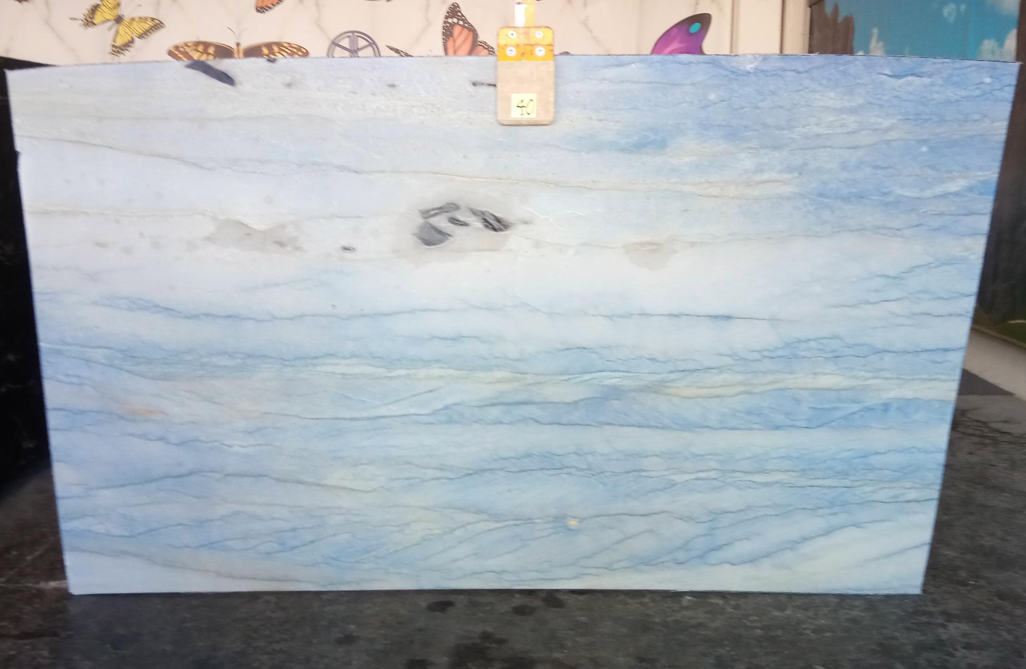 AZUL MAKAUBA polierte Unmaßplatten Z0191 aus Natur Marmor , Slab #40: Lieferung Veneto, Italien
