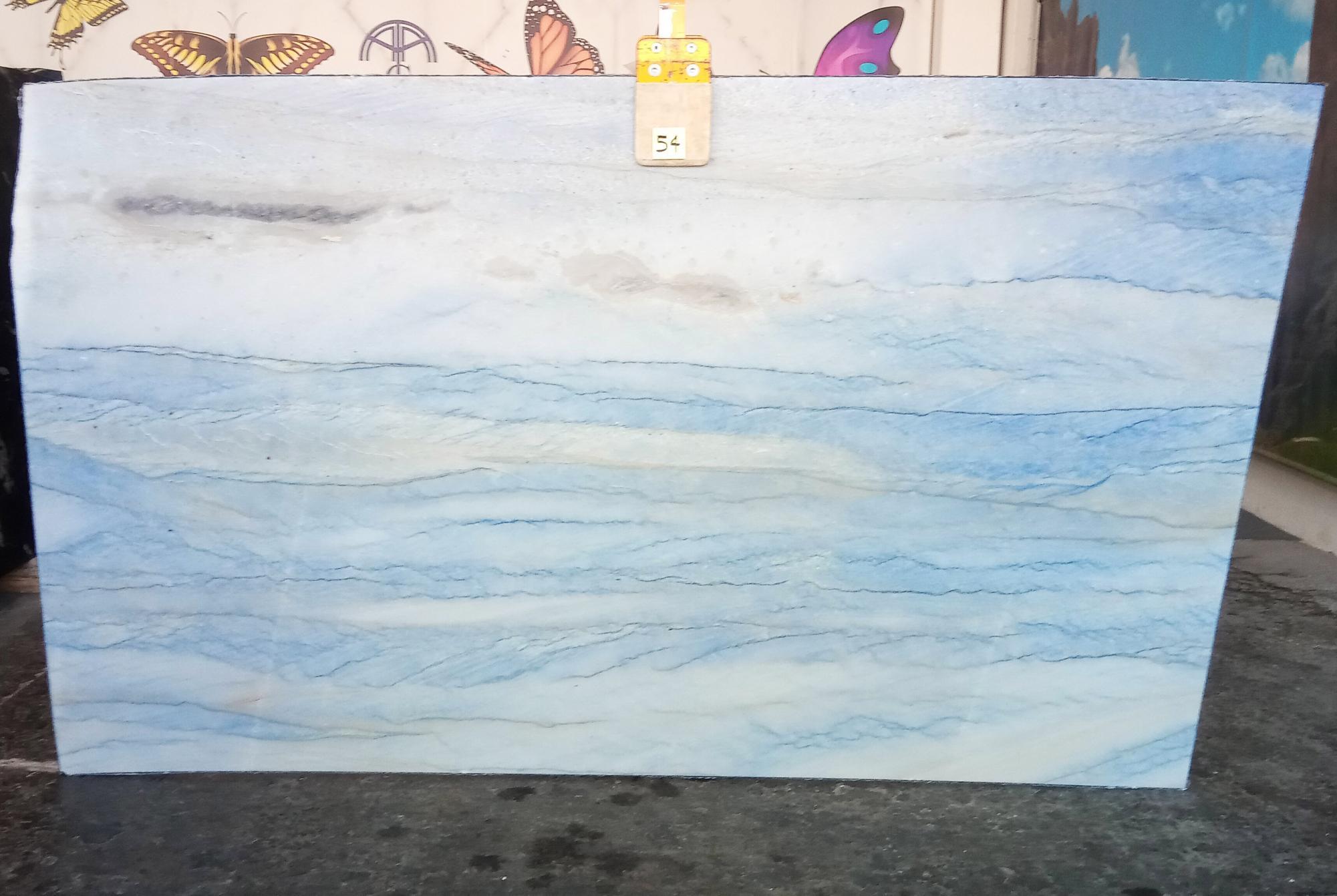 AZUL MAKAUBA polierte Unmaßplatten Z0191 aus Natur Marmor , Slab #54: Lieferung Veneto, Italien