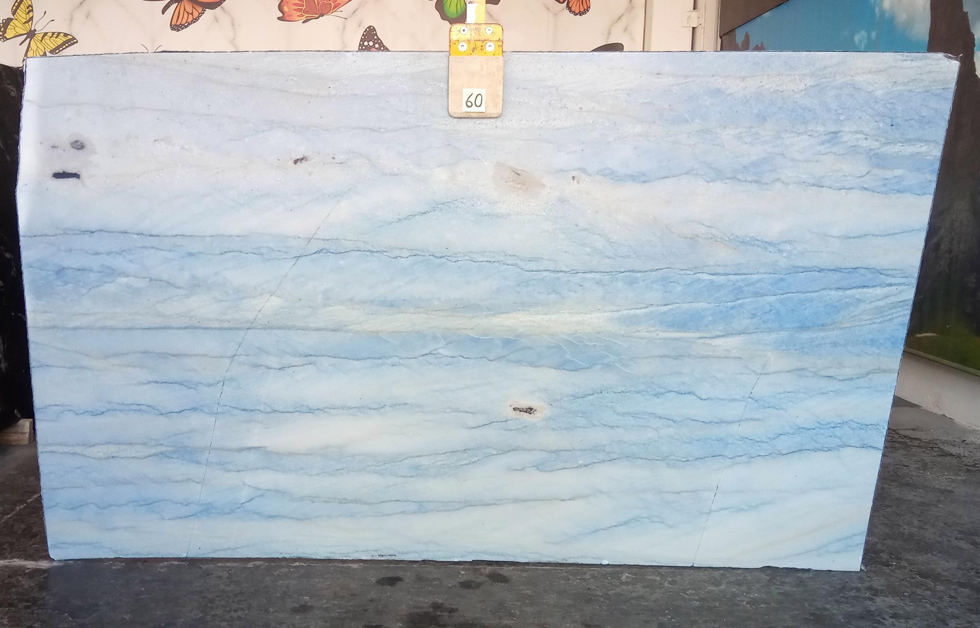 AZUL MAKAUBA polierte Unmaßplatten Z0191 aus Natur Marmor , Slab #60: Lieferung Veneto, Italien