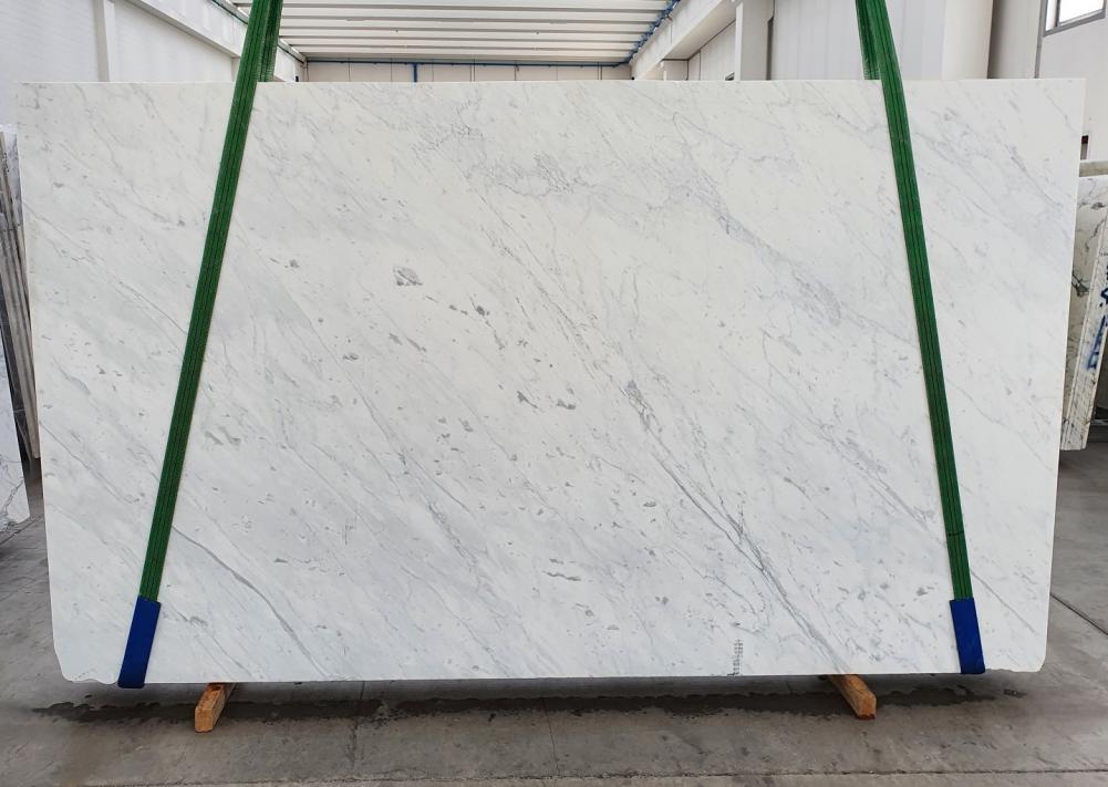 BIANCO CARRARA C polierte Unmaßplatten 1441 aus Natur Marmor , Slab #07: Lieferung Veneto, Italien