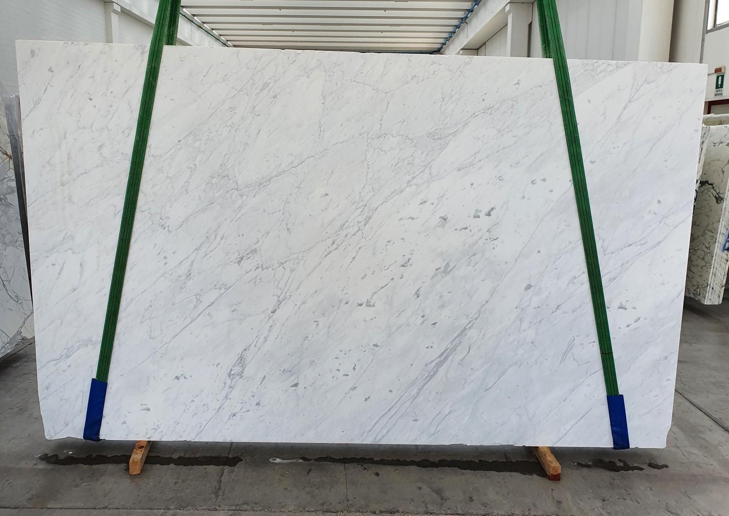 BIANCO CARRARA C polierte Unmaßplatten 1441 aus Natur Marmor , Slab #14: Lieferung Veneto, Italien