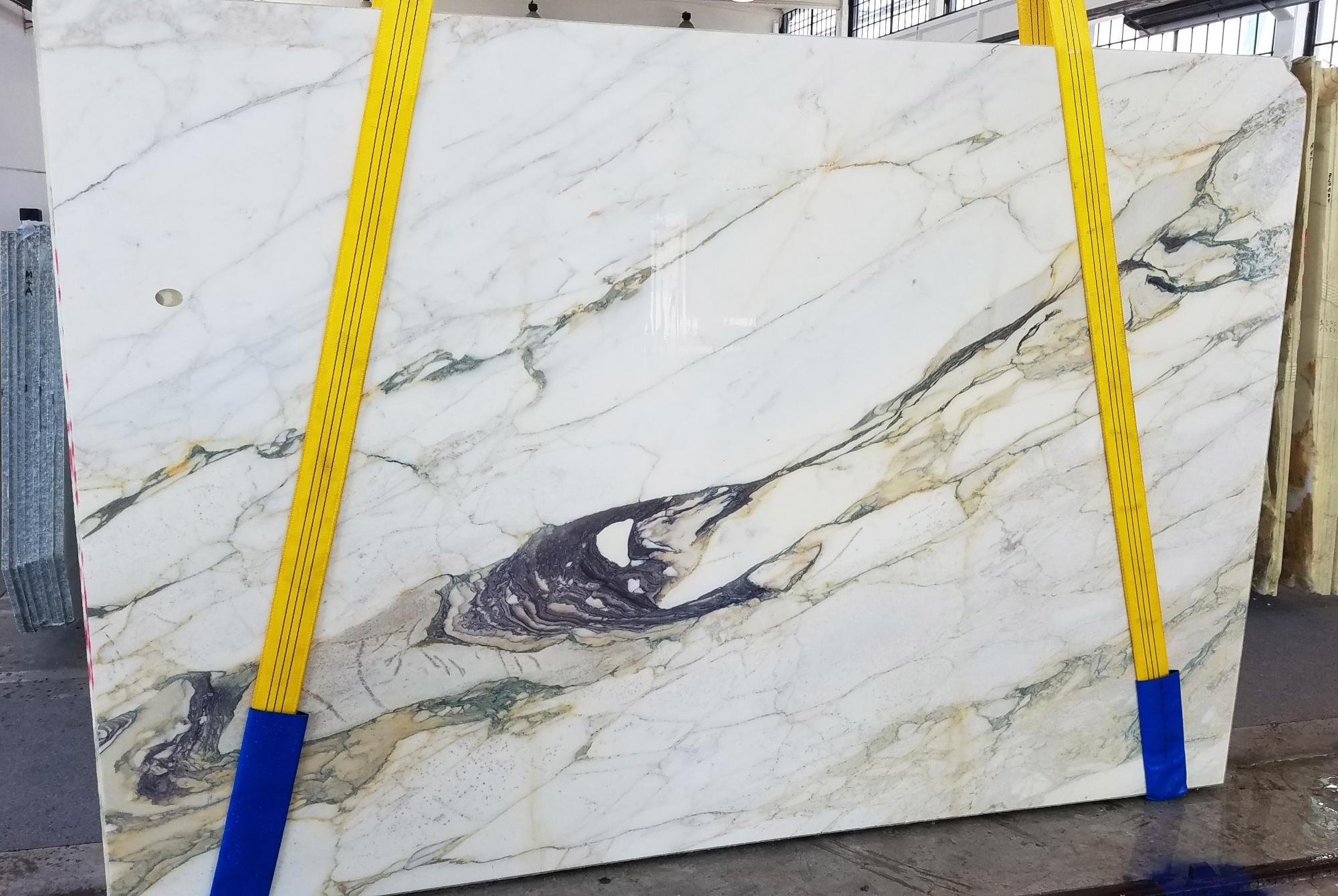 CALACATTA FIORITO gesägte Unmaßplatten U0433 aus Natur Marmor , Slab #08: Lieferung Veneto, Italien