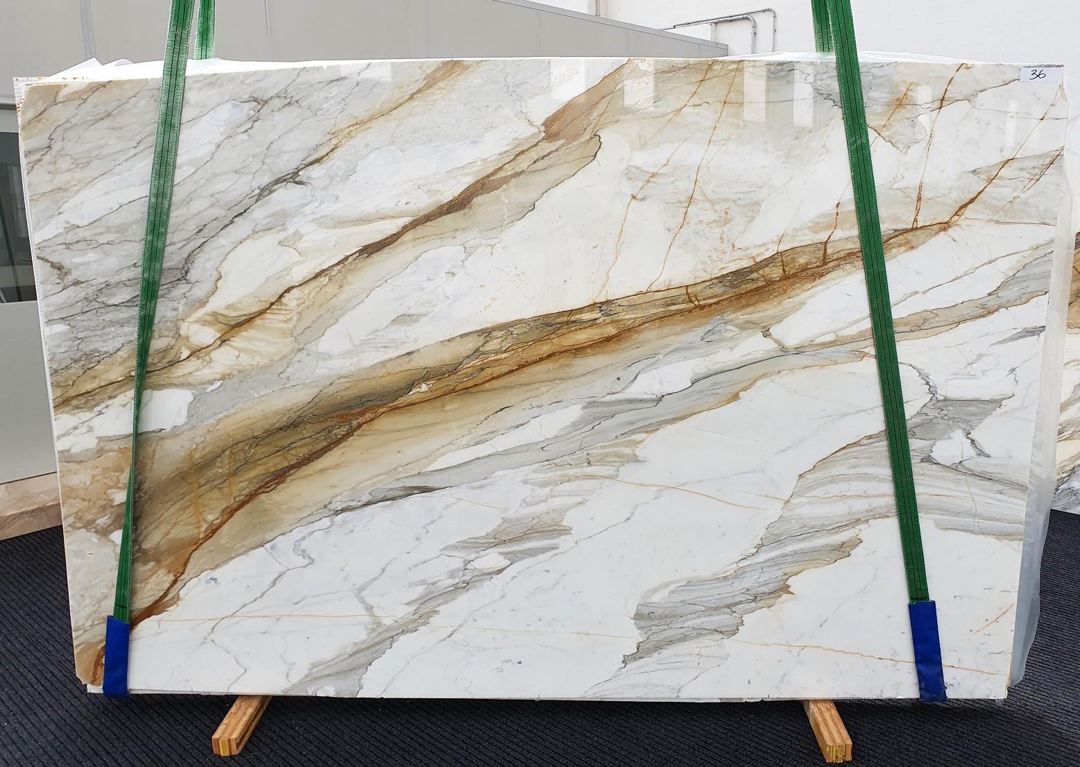 CALACATTA MACCHIAVECCHIA polierte Unmaßplatten 1354 aus Natur Marmor , Slab #36: Lieferung Veneto, Italien