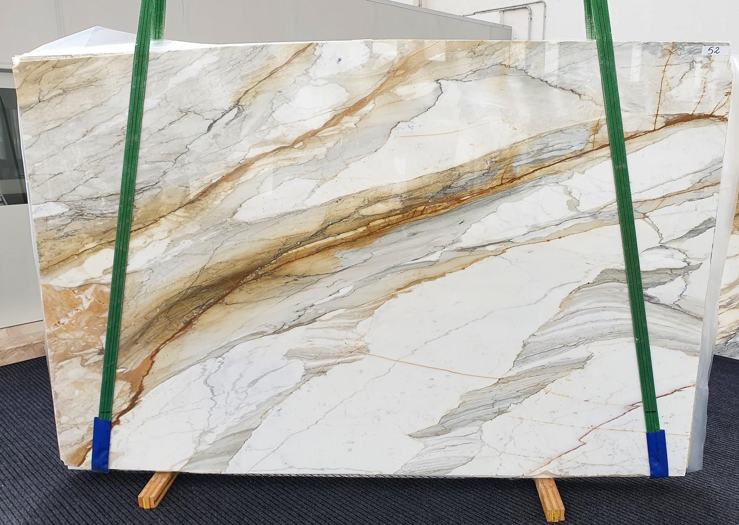 CALACATTA MACCHIAVECCHIA polierte Unmaßplatten 1354 aus Natur Marmor , Slab #52: Lieferung Veneto, Italien