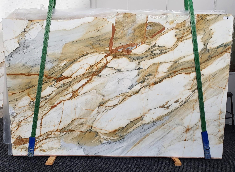 CALACATTA MACCHIAVECCHIA polierte Unmaßplatten 1422 aus Natur Marmor , Slab #02: Lieferung Veneto, Italien
