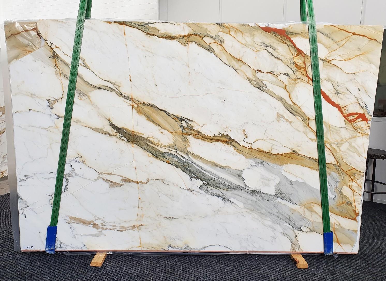 CALACATTA MACCHIAVECCHIA polierte Unmaßplatten 1422 aus Natur Marmor , Slab #27: Lieferung Veneto, Italien