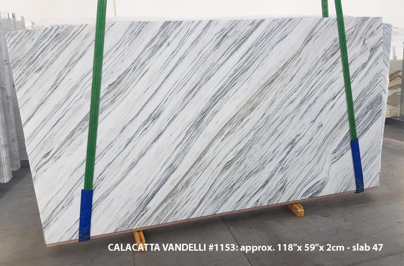 Calacatta Vandelli polierte Unmaßplatten 1153 aus Natur Marmor , Slab #47: Lieferung Veneto, Italien