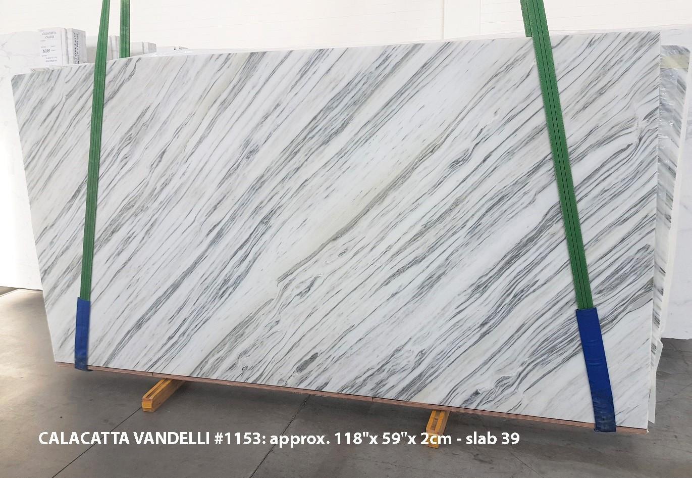 Calacatta Vandelli polierte Unmaßplatten 1153 aus Natur Marmor , Slab #39: Lieferung Veneto, Italien