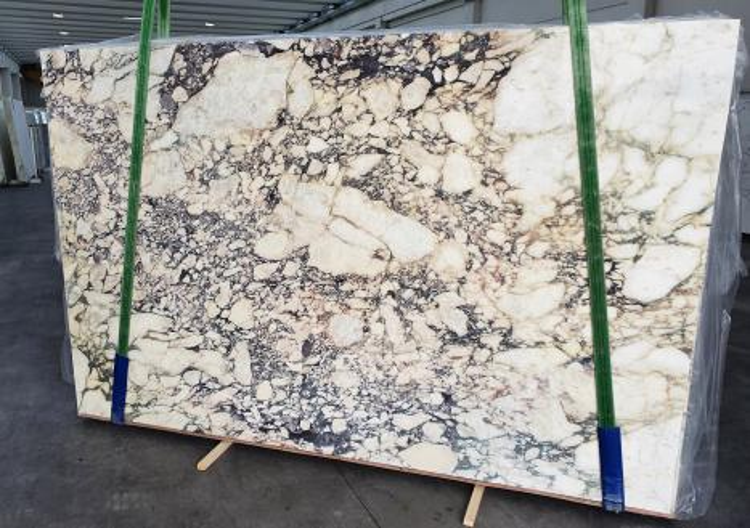 CALACATTA VIOLA polierte Unmaßplatten 1291 aus Natur Marmor , Slab #42: Lieferung Veneto, Italien