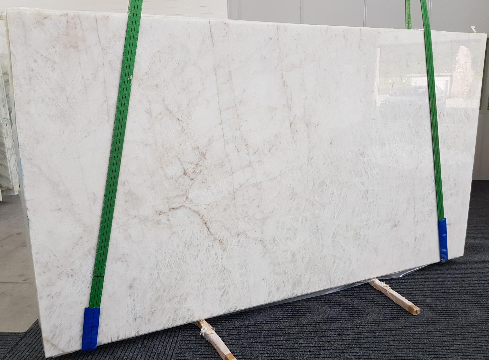 CRISTALLO geschliffene Unmaßplatten 1163 aus Natur Quarzit , Slab #08: Lieferung Veneto, Italien