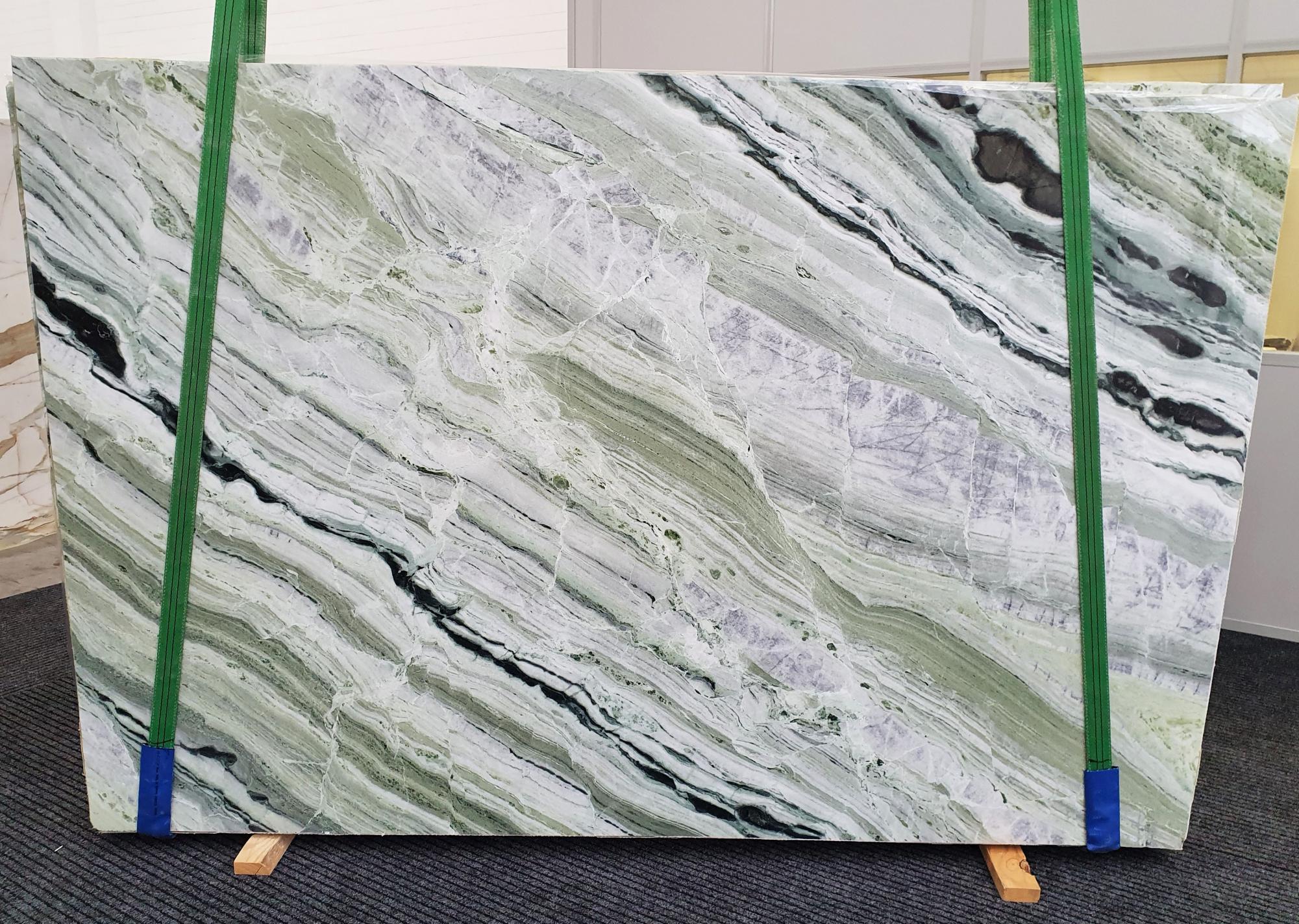 GREEN BEAUTY polierte Unmaßplatten 1452 aus Natur Marmor , Slab #01: Lieferung Veneto, Italien