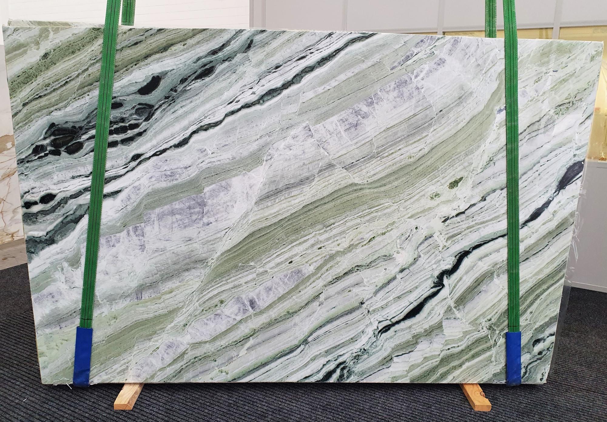 GREEN BEAUTY polierte Unmaßplatten 1452 aus Natur Marmor , Slab #10: Lieferung Veneto, Italien