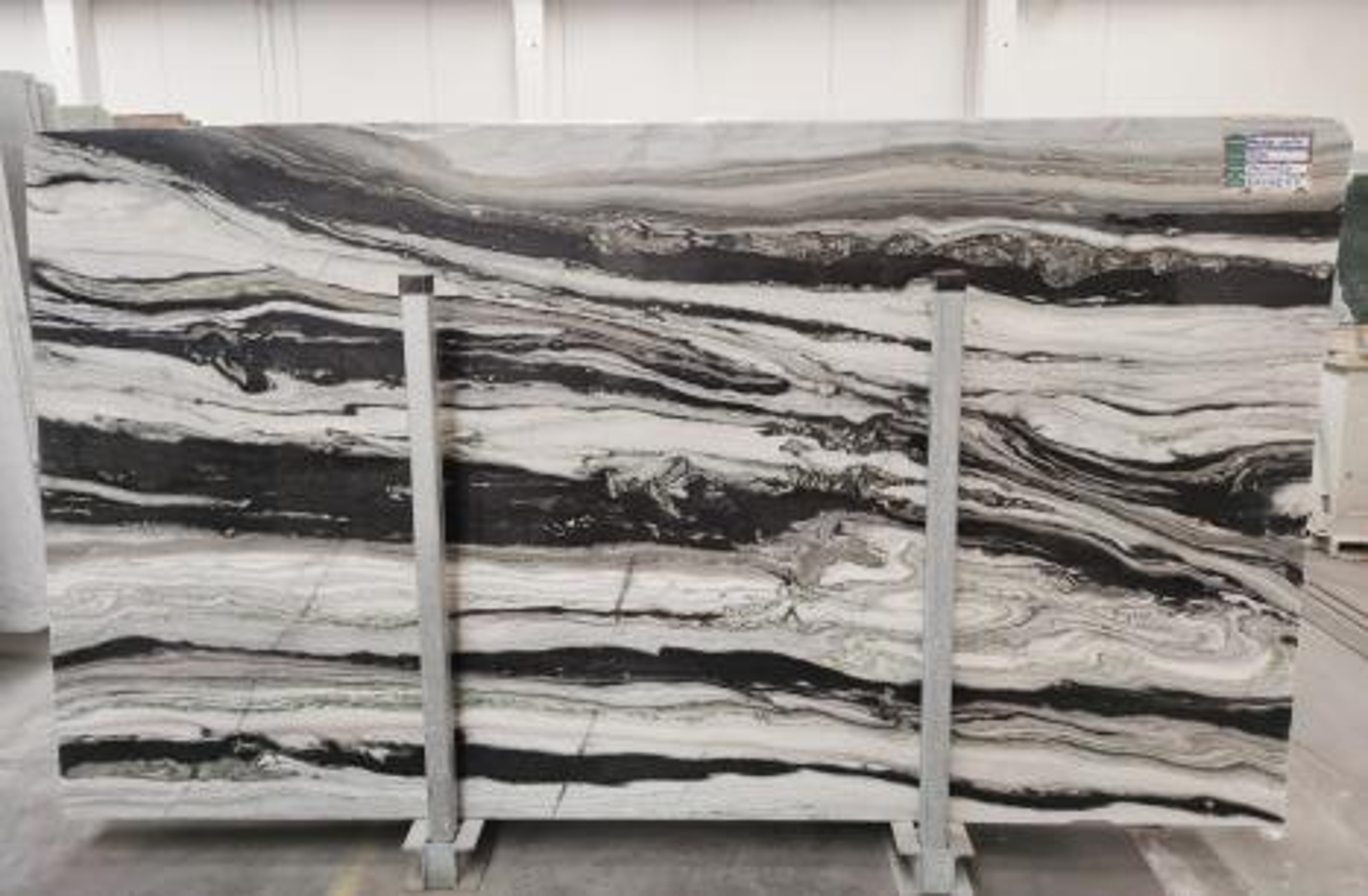 PANDA GREY polierte Unmaßplatten D-7130 aus Natur Marmor , SL3CM: Lieferung Veneto, Italien