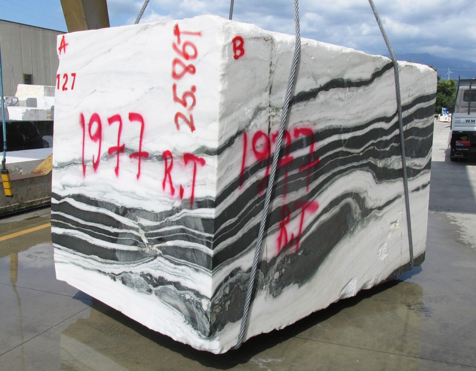 PANDA rohe Blöcke 1771M aus Natur Marmor , Face A: Lieferung Veneto, Italien