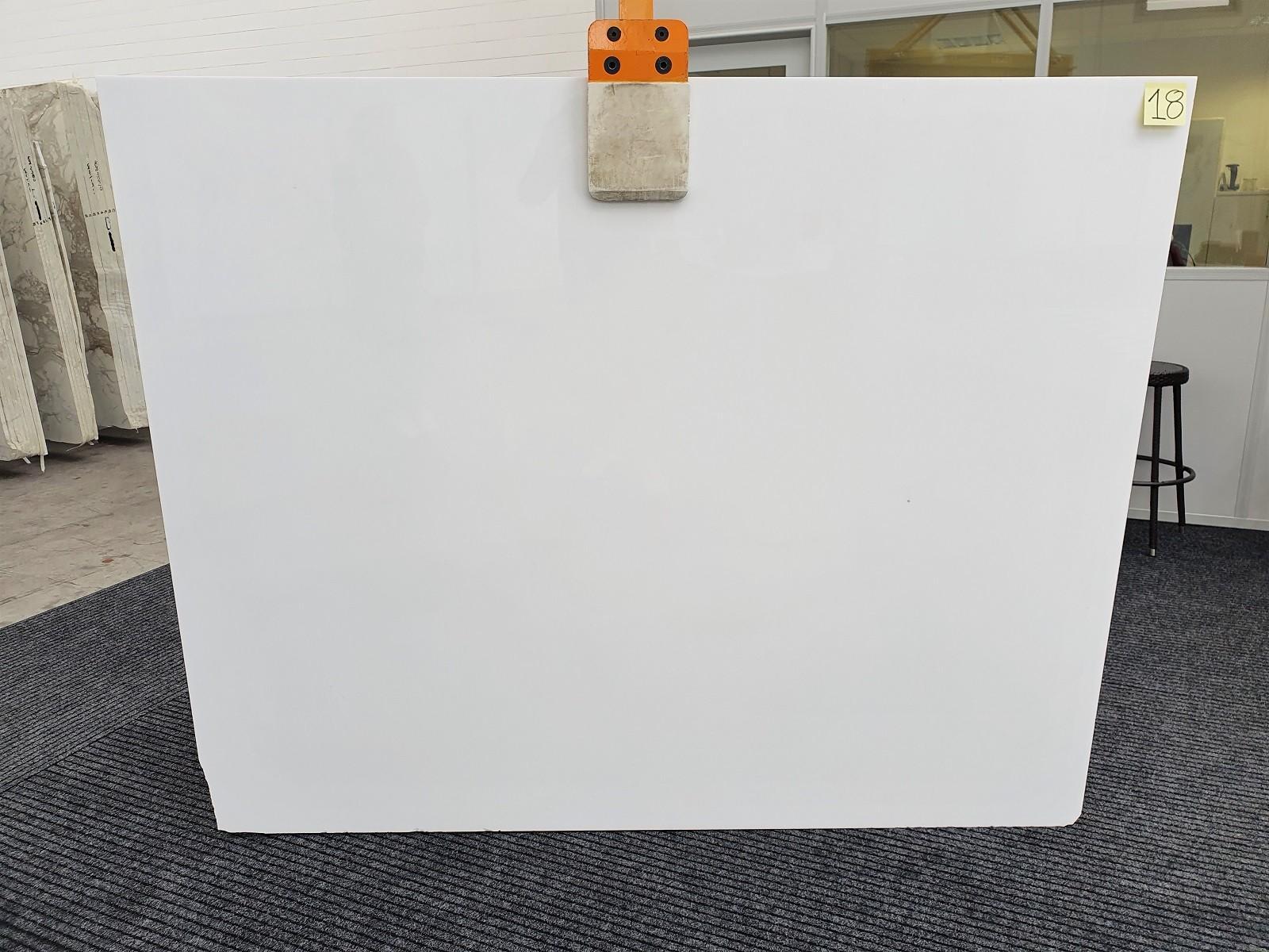 THASSOS polierte Unmaßplatten 1355 aus Natur Marmor , Slab #18: Lieferung Veneto, Italien