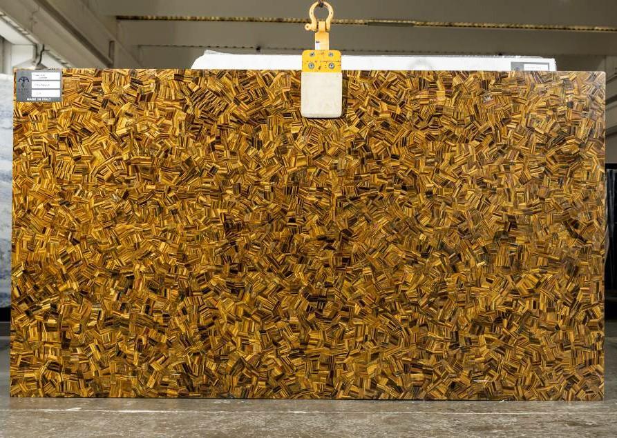 TIGER EYE RANDOM polierte Unmaßplatten LA3 aus Natur Halbedelstein , SL25MM: Lieferung Veneto, Italien