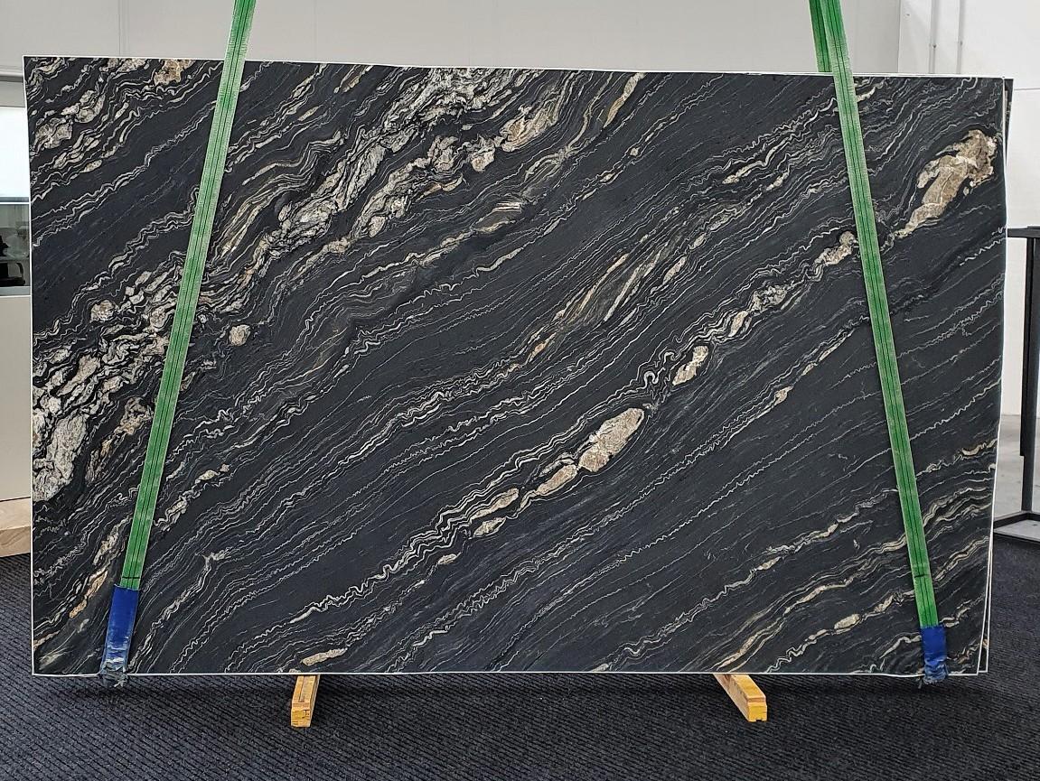 TROPICAL STORM geschliffene Unmaßplatten 1364 aus Natur Quarzit , Slab #14: Lieferung Veneto, Italien