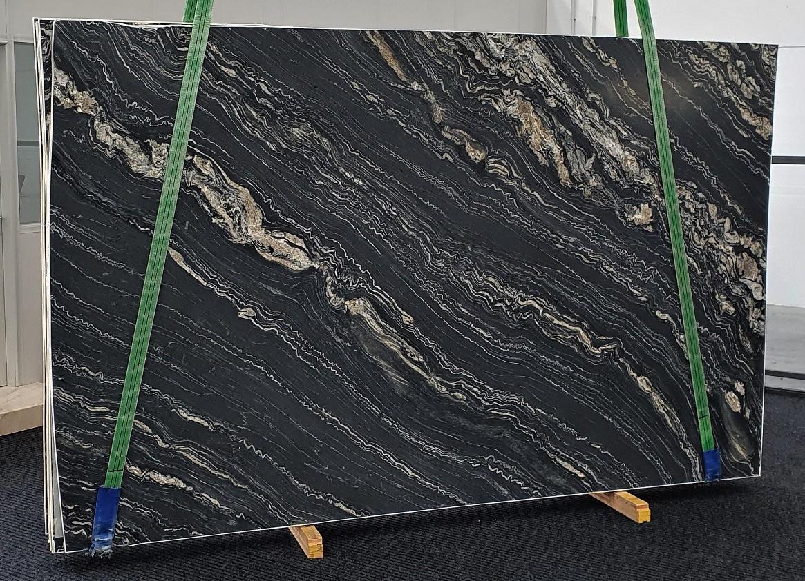 TROPICAL STORM geschliffene Unmaßplatten 1364 aus Natur Quarzit , Slab #33: Lieferung Veneto, Italien