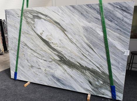 Manhattan Greypolierte Unmaßplatt Italienischer Marmor Slab #34,  305 x 202 x 2 cm  (verfügbar Veneto, Italien) Natur Stein