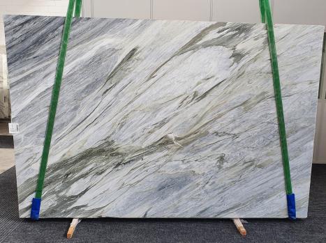 Manhattan Greypolierte Unmaßplatt Italienischer Marmor Slab #43,  305 x 202 x 2 cm  (verfügbar Veneto, Italien) Natur Stein