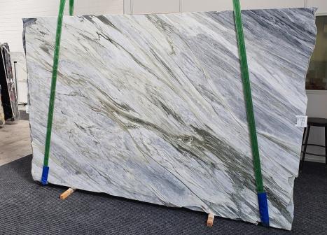 Manhattan Greypolierte Unmaßplatt Italienischer Marmor Slab #52,  305 x 202 x 2 cm  (verfügbar Veneto, Italien) Natur Stein