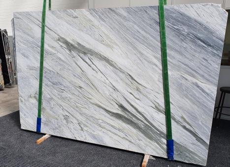 MANHATTAN GREYgeschliffene Unmaßplatt Italienischer Marmor Slab #08,  305 x 202 x 2 cm  (verfügbar Veneto, Italien) Natur Stein