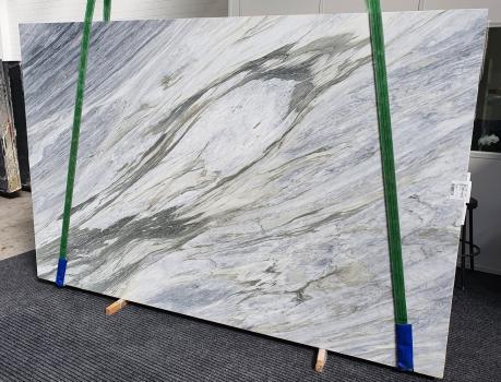 MANHATTAN GREYgeschliffene Unmaßplatt Italienischer Marmor Slab #25,  305 x 202 x 2 cm  (verfügbar Veneto, Italien) Natur Stein