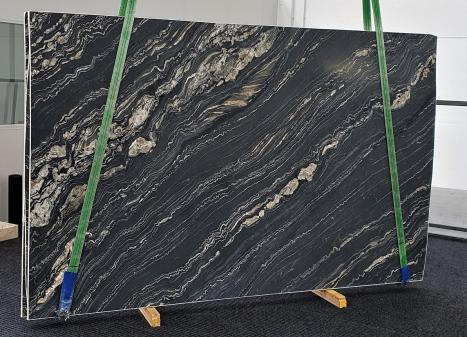 TROPICAL STORMgeschliffene Unmaßplatt Namibia Quarzit Slab #10,  310 x 198 x 3 cm  (verfügbar Veneto, Italien) Natur Stein