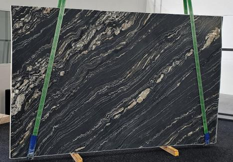 TROPICAL STORMgeschliffene Unmaßplatt Namibia Quarzit Slab #14,  310 x 198 x 3 cm  (verfügbar Veneto, Italien) Natur Stein