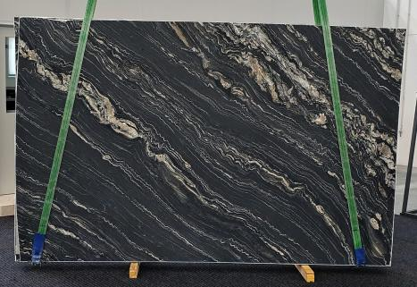TROPICAL STORMgeschliffene Unmaßplatt Namibia Quarzit Slab #33,  310 x 198 x 2 cm  (verfügbar Veneto, Italien) Natur Stein