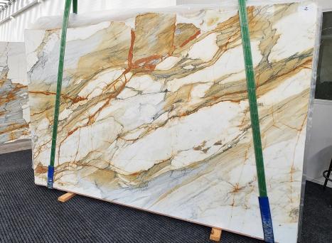 CALACATTA MACCHIAVECCHIApolierte Unmaßplatt Italienischer Marmor Slab #02,  300 x 195 x 2 cm  (verfügbar Veneto, Italien) Natur Stein
