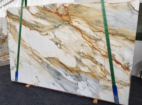 CALACATTA MACCHIAVECCHIApolierte Unmaßplatt Italienischer Marmor Slab #11,  300 x 195 x 2 cm  (verfügbar Veneto, Italien) Natur Stein