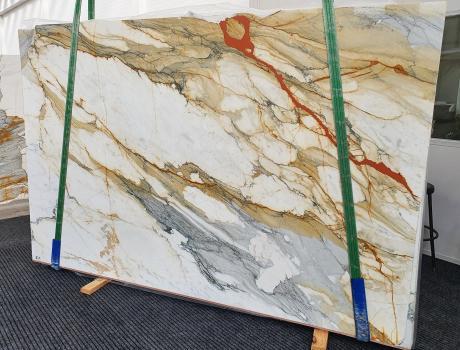 CALACATTA MACCHIAVECCHIApolierte Unmaßplatt Italienischer Marmor Slab #19,  300 x 195 x 2 cm  (verfügbar Veneto, Italien) Natur Stein