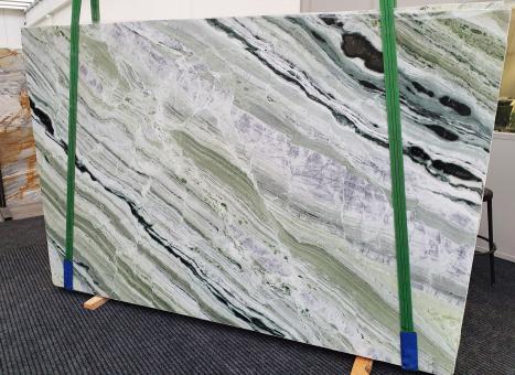 GREEN BEAUTYpolierte Unmaßplatt Chinesischer Marmor Slab #01,  280 x 180 x 2 cm  (verfügbar Veneto, Italien) Natur Stein
